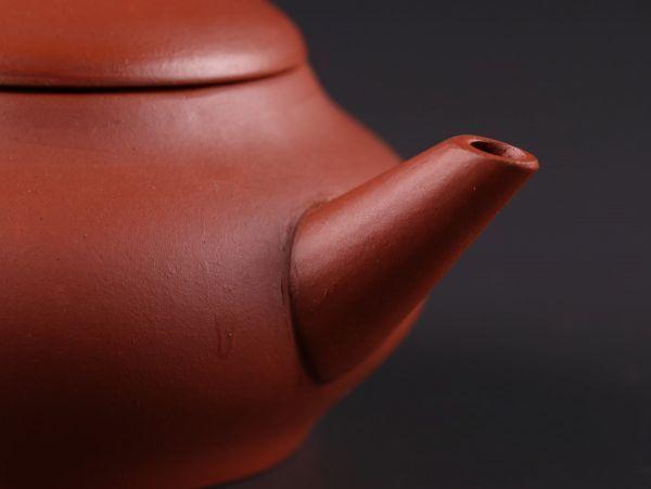 中国古玩 唐物 煎茶道具 朱泥 紫泥 中国宜興 款 紫砂壷 茶壷 急須 時代物 極上品 初だし品 a6281_画像5