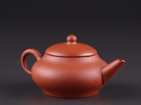 中国古玩 唐物 煎茶道具 朱泥 紫泥 中国宜興 款 紫砂壷 茶壷 急須 時代物 極上品 初だし品 a6281_画像4