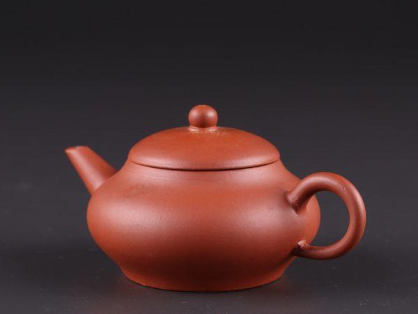 中国古玩 唐物 煎茶道具 朱泥 紫泥 中国宜興 款 紫砂壷 茶壷 急須 時代物 極上品 初だし品 a6281_画像2