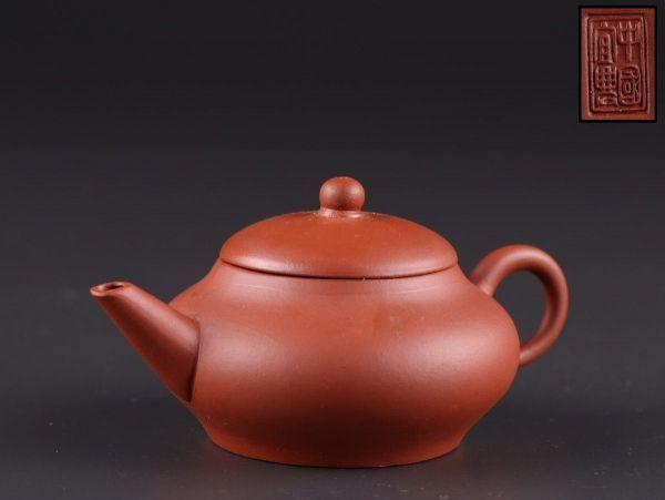 中国古玩 唐物 煎茶道具 朱泥 紫泥 中国宜興 款 紫砂壷 茶壷 急須 時代物 極上品 初だし品 a6281_画像1