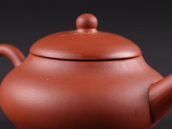 中国古玩 唐物 煎茶道具 朱泥 紫泥 中国宜興 款 紫砂壷 茶壷 急須 時代物 極上品 初だし品 a6281_画像6