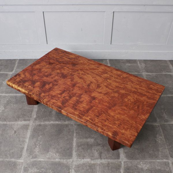 IZ43623O○一枚板 座卓 無垢材 ブビンガ センターテーブル 和室 和家具 ローテーブル 高級 座敷机 応接間 リビング 天然木 和モダン 机_画像2