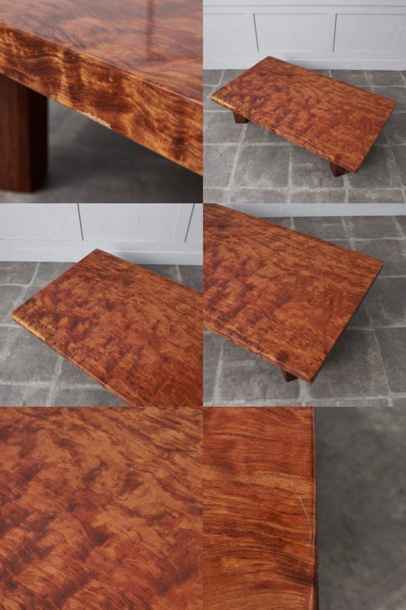 IZ43623O○一枚板 座卓 無垢材 ブビンガ センターテーブル 和室 和家具 ローテーブル 高級 座敷机 応接間 リビング 天然木 和モダン 机_画像8