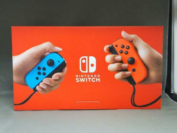 動作確認済 Nintendo Switch Joy-Con(L) ネオンブルー/(R) ネオンレッド(HADSKABAA)(バッテリー拡張モデル)_画像2