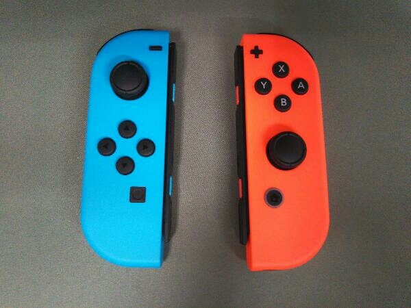 動作確認済 Nintendo Switch Joy-Con(L) ネオンブルー/(R) ネオンレッド(HADSKABAA)(バッテリー拡張モデル)_画像10
