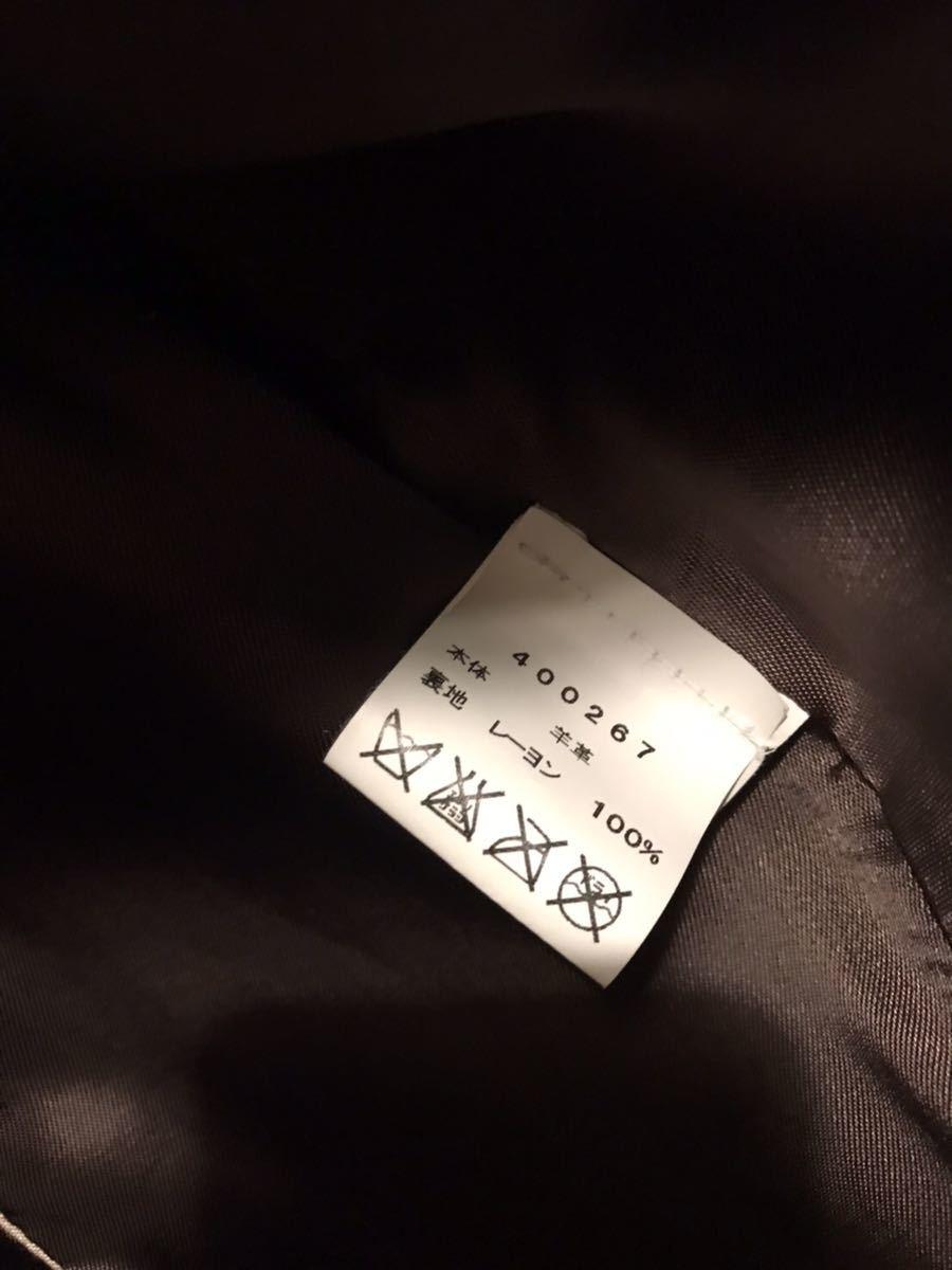 エンメティ レザー ハーフコート ステンカラー イタリア製 20万 サイズL ダークブラウン 美品_画像5