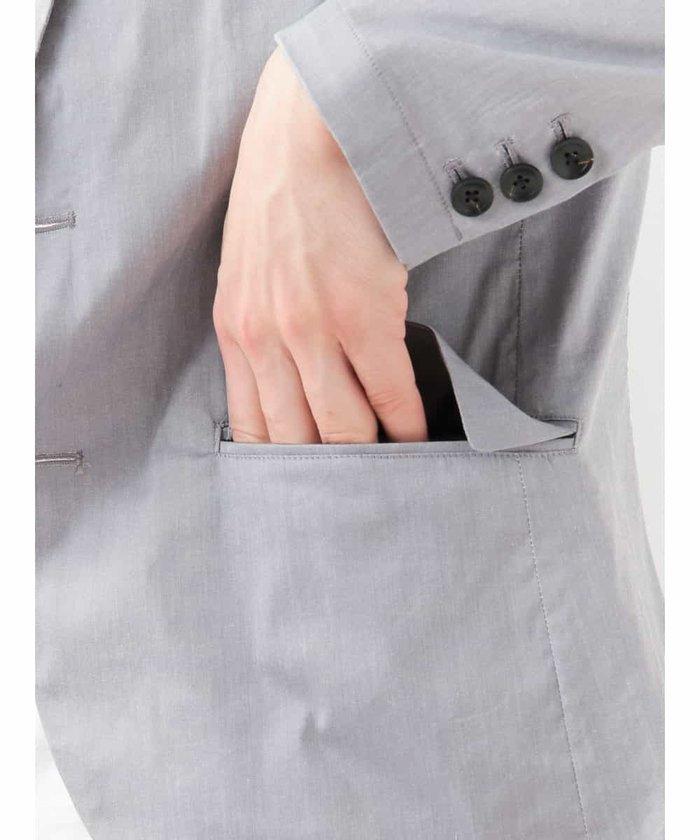【新品】定価2万 MKミッシェルクランオム ストレッチジャケット グレー サイズ51(XLサイズ相当) [送料無料]_画像6