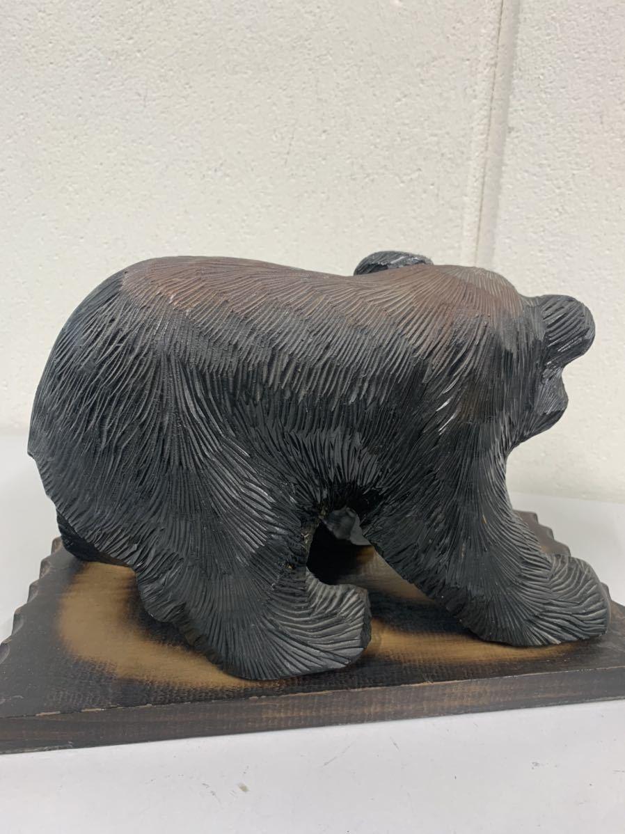 木彫り 熊 置物 木彫りの熊 /nb14_画像4