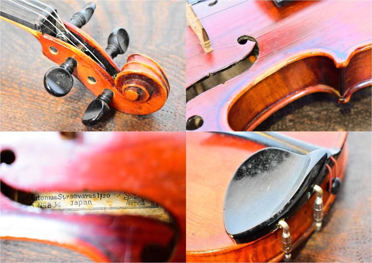 バイオリン / 鈴木バイオリン / サイズ1/4 / ケース付き / 弦楽器 / SUZUKI / 1955年 _画像10