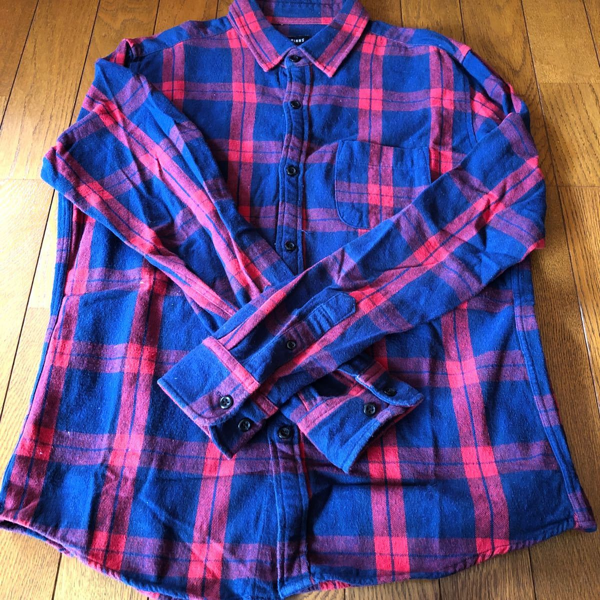 ネルシャツ 長袖シャツ チェックシャツ スピンズ