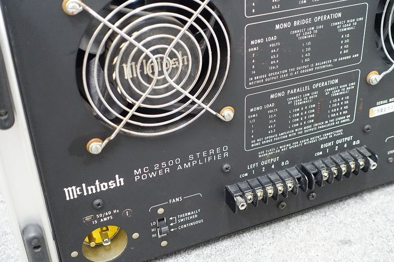 ■□McIntosh MC2500 パワーアンプ マッキントッシュ 正規品□■005887006W□■_画像5