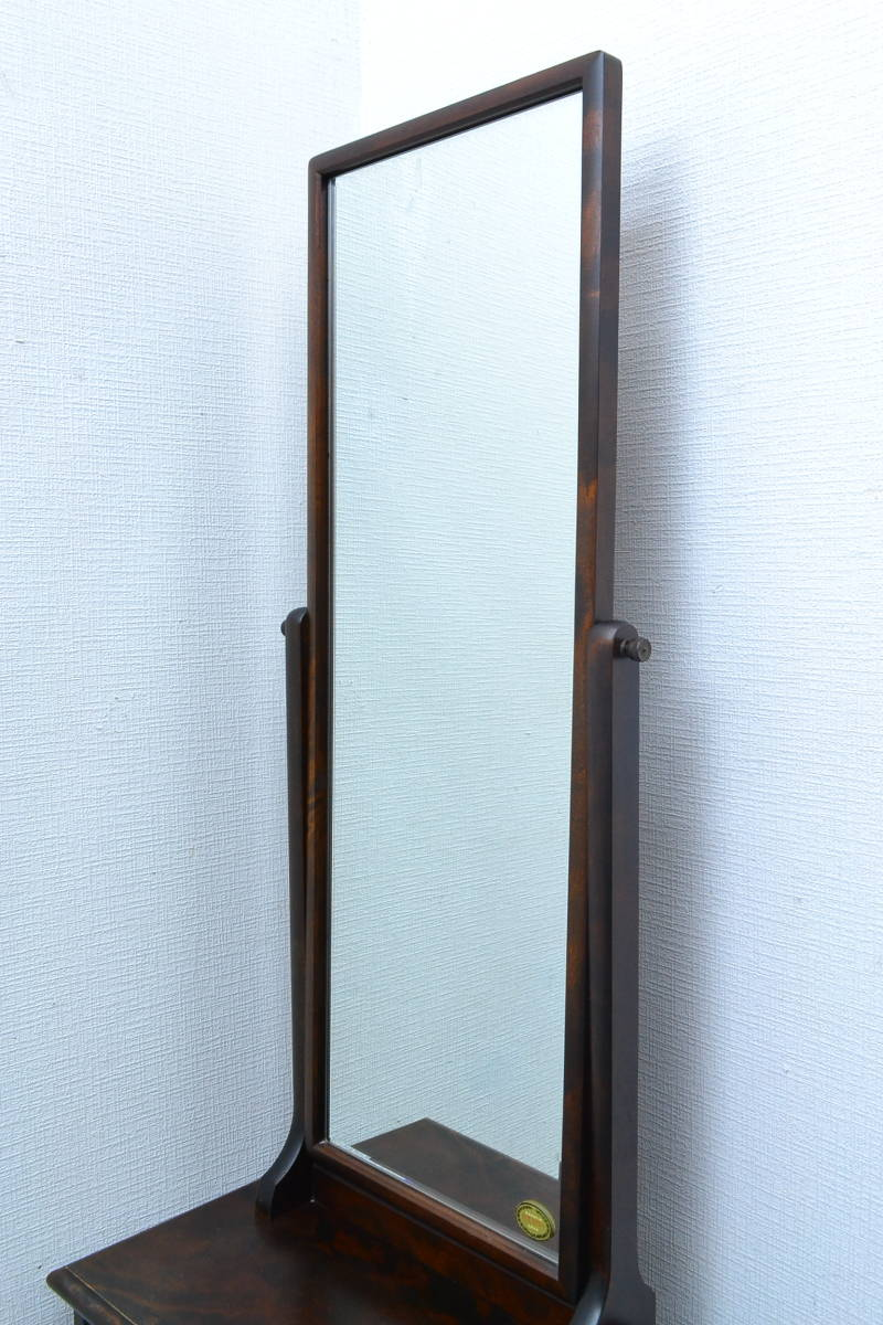h256■北海道民芸家具■鏡台■外寸 約幅518×奥行き298×高さ1355mm■ドレッサー 鏡_画像5