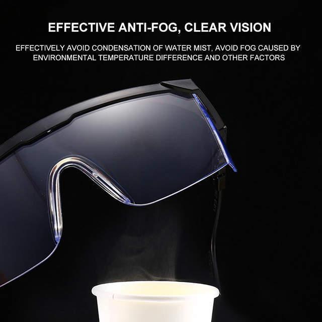 安全メガネ コロナウイルス対策 花粉症対策 飛沫予防 UVカット 曇り止め 保護ゴーグル ブルーライトカット 防塵 耐衝撃性 透明 D5019_画像5