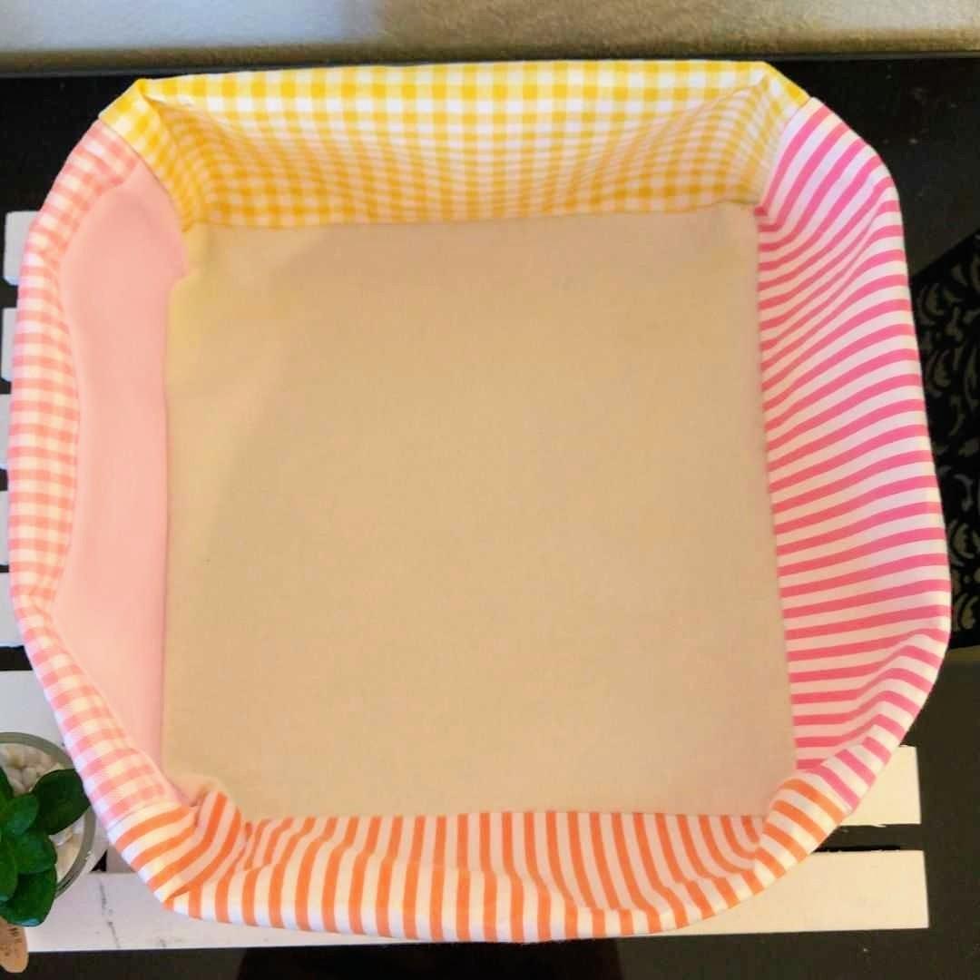 セール【小物入れ】ハンドメイド 花柄 #2 布バスケット リバティ 生地 布 ピンク お値引き 割引