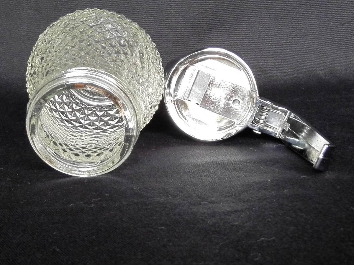 昭和レトロ ガラス製  ミルク&ハニーポット はちみつ入れ 調味料入れ  ソルト&ペッパー 3種4点セット 未使用_画像3