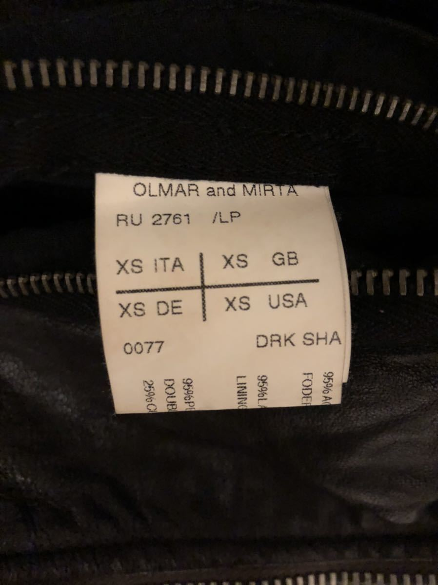 リックオウエンス レザージャケット XS | Rick Owens シングル ライダース インターシャ 46_画像4