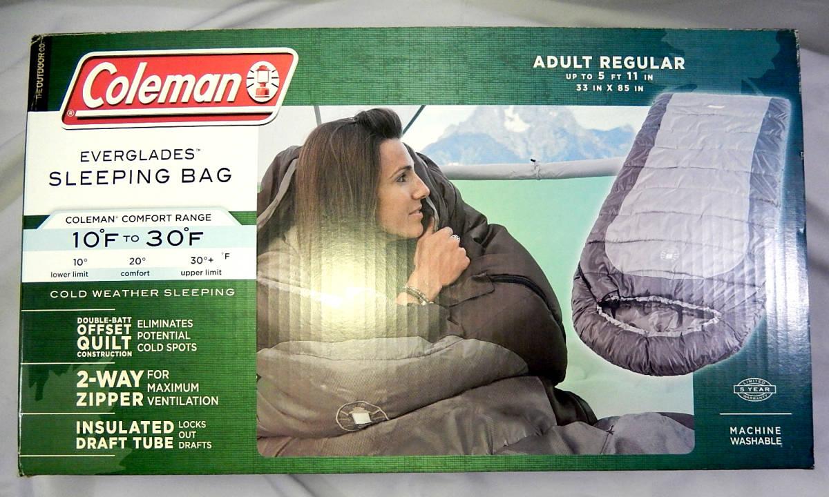 ◆ Coleman コールマン everglades Sleeping Bag Mummy 寝袋 マミー サイズ 約208cm x 81cm -12℃ ~ -1℃ B