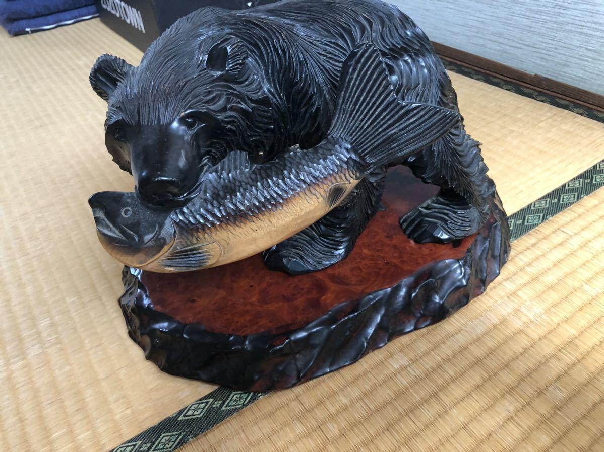 木彫りの熊 北海道 熊の置物 民芸品_画像1