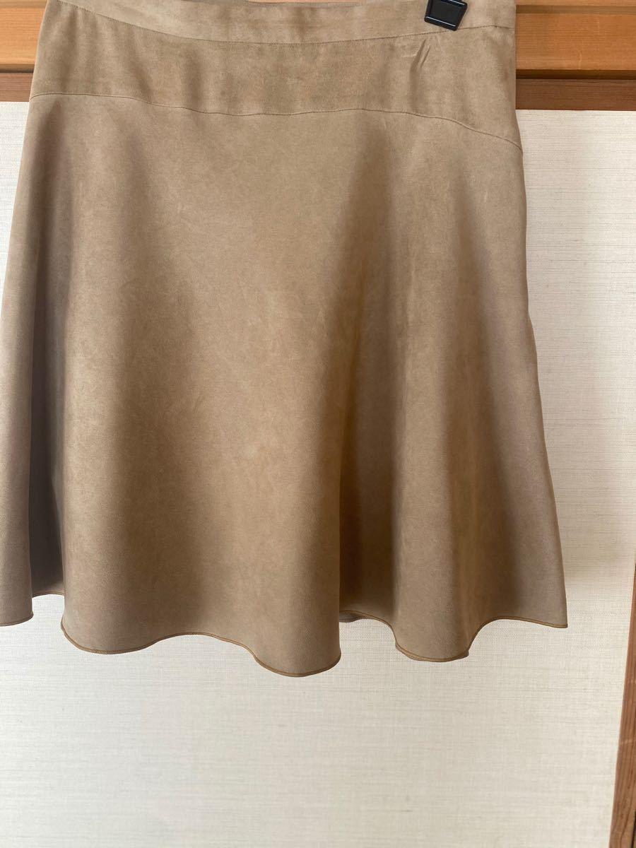 アンタイトル ベロア生地 フレアスカートサイズ2