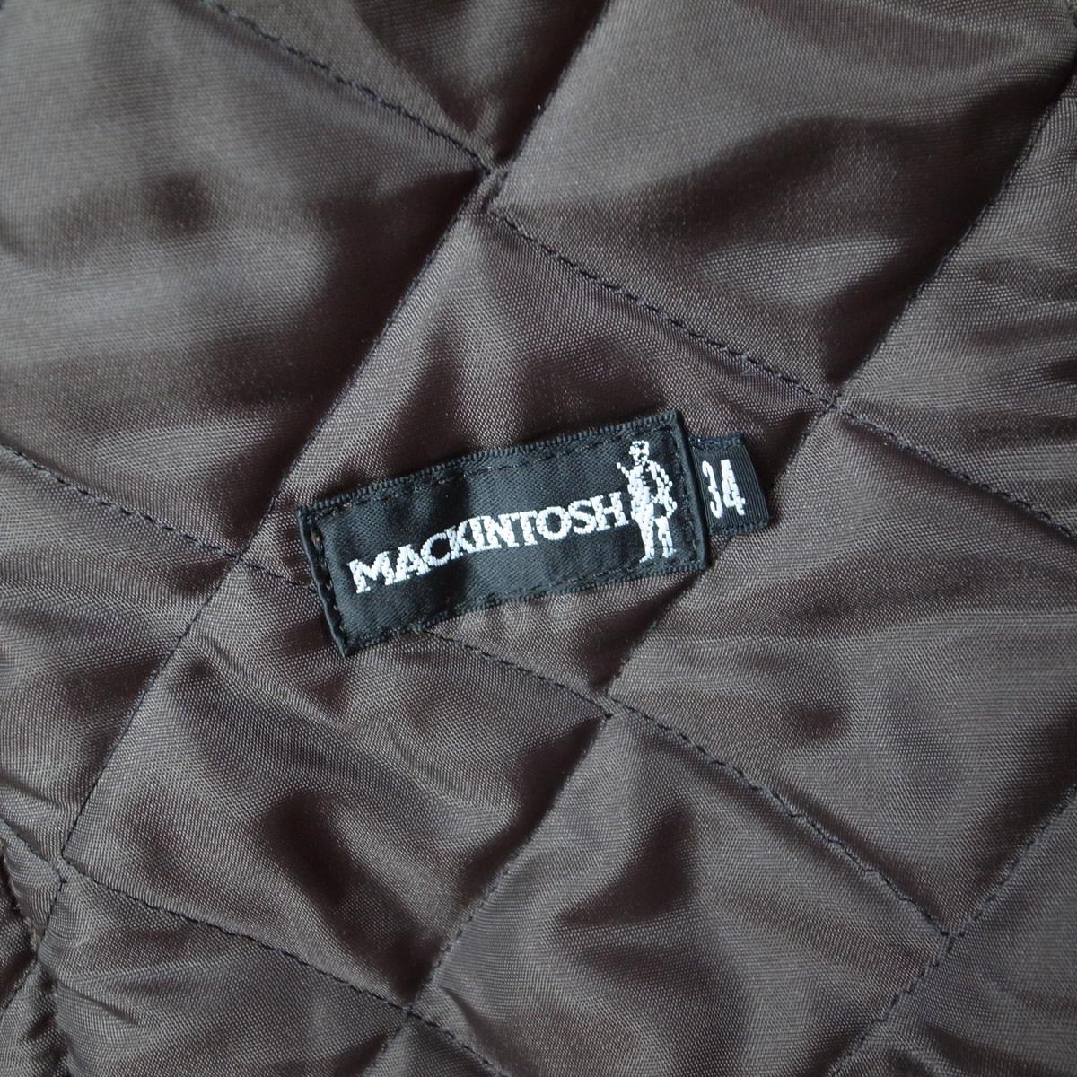 MACKINTOSH マッキントッシュ キルティングジャケット 34 コート スコットランド製_画像4