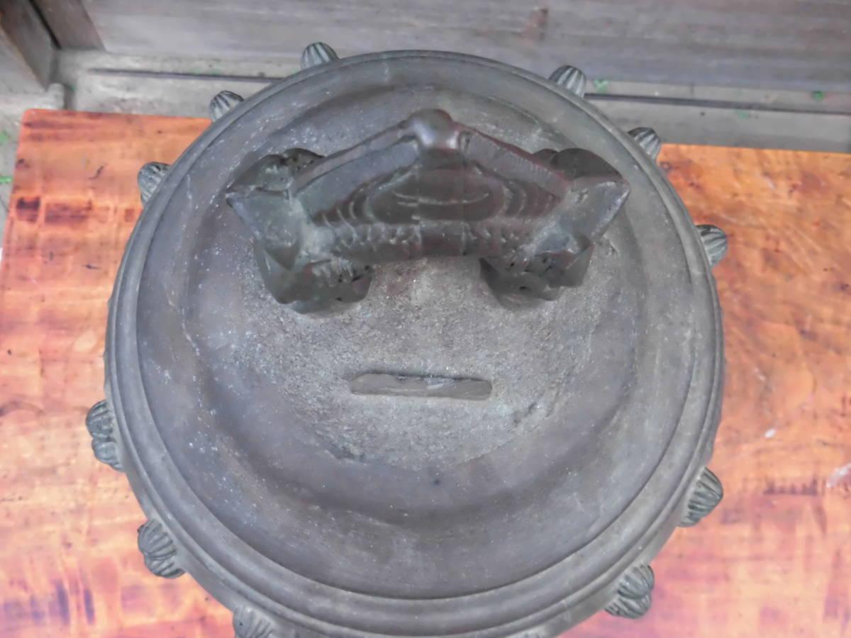 大きな 【 銅製 半鐘 釣鐘 梵鐘 高さ 約54cm 重さ 約22kg 】 仏教美術 寺院仏閣 仏具 仏像 中国 骨董_画像6