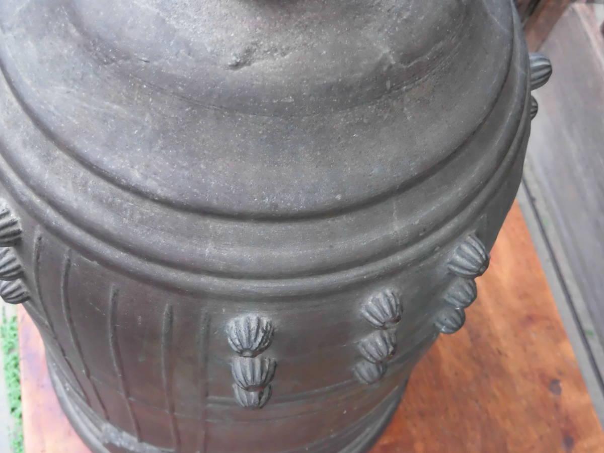 大きな 【 銅製 半鐘 釣鐘 梵鐘 高さ 約54cm 重さ 約22kg 】 仏教美術 寺院仏閣 仏具 仏像 中国 骨董_画像8