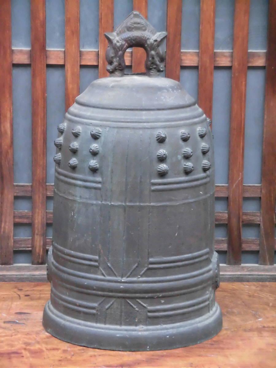 大きな 【 銅製 半鐘 釣鐘 梵鐘 高さ 約54cm 重さ 約22kg 】 仏教美術 寺院仏閣 仏具 仏像 中国 骨董_画像3
