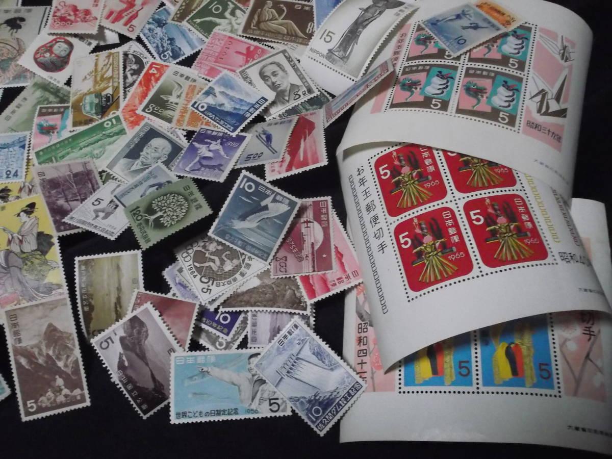 送料無料! 切手趣味週間 月に雁 見返り美人 ビードロ 写楽 その他古い切手まとめて100枚_画像6