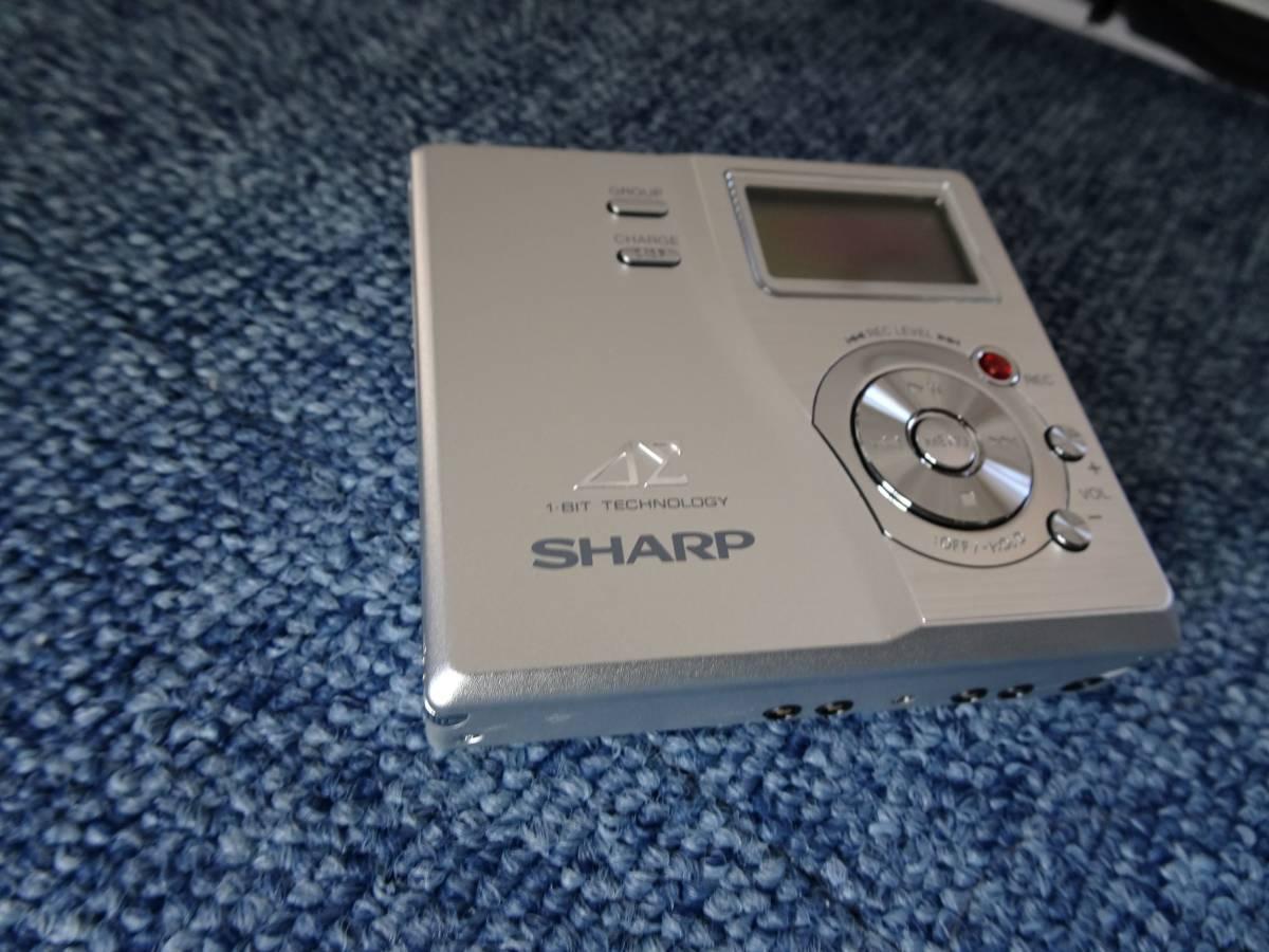 【未使用品】SHARP ポータブルMDレコーダー MD-DR77-S シルバー _画像1
