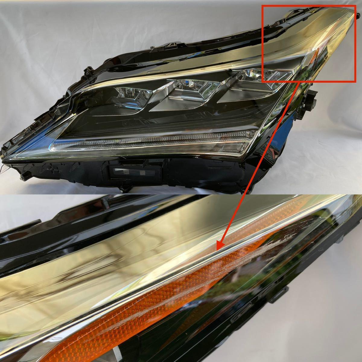 CHL-8【送料無料】レクサス RX 前期 3眼フルLED 左ヘッドライト KOITO 48-167 刻印 X5 ジャンク_画像6