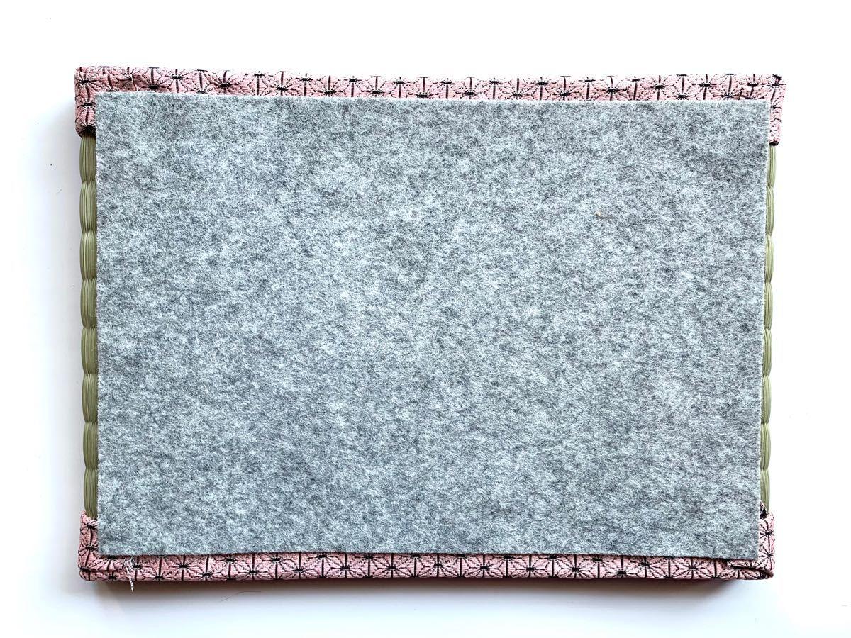 2枚組 ミニ畳(小) 置き畳 フィギュア台 ディスプレイ台 人形台 飾り台 麻の葉柄 市松柄 和柄 着物柄 国産い草 ハンドメイド