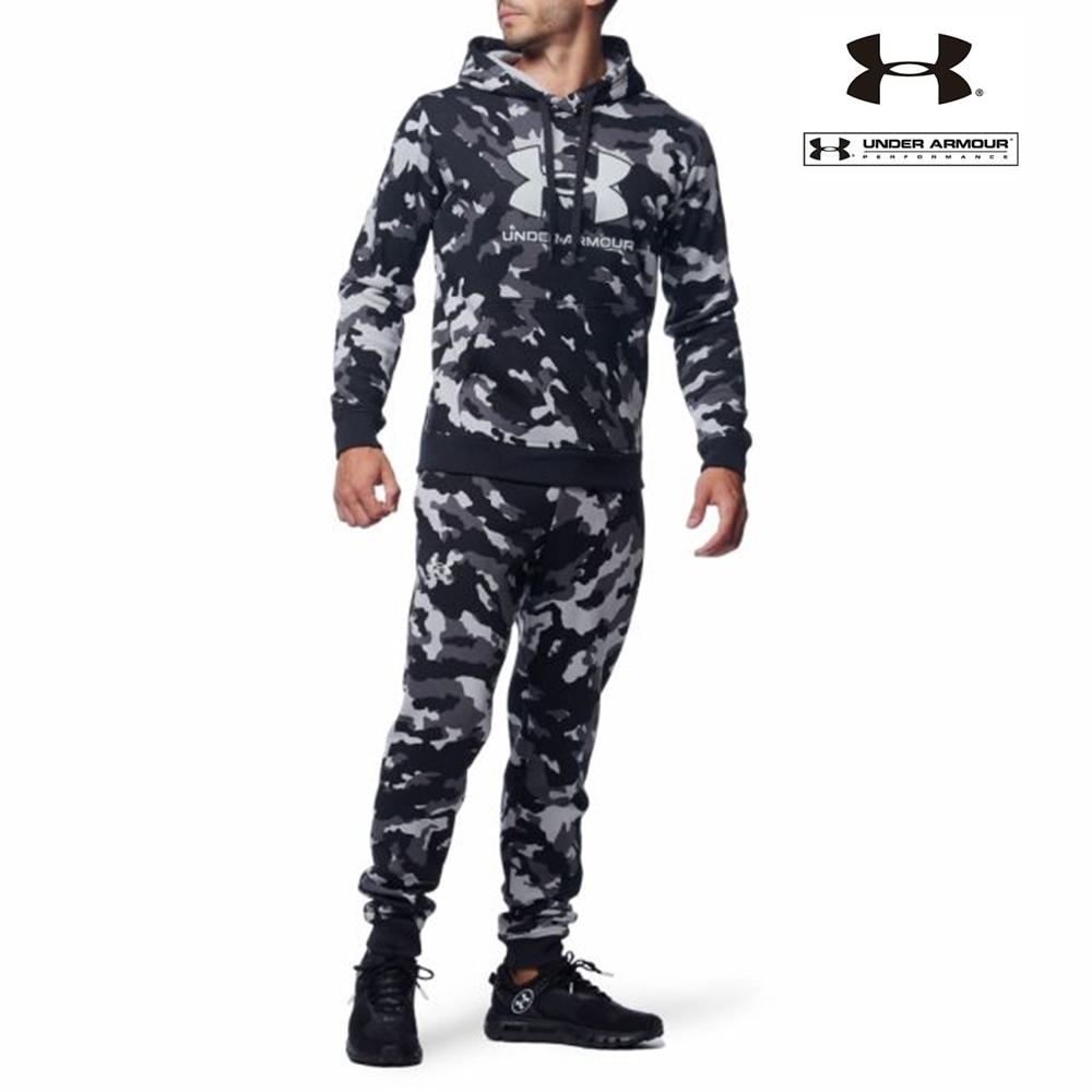 UA アンダーアーマー カモ ライバルフリース パーカー フーディー ジャケット+ ジョガー パンツ 上下セット/メンズ/新品/XL_画像7