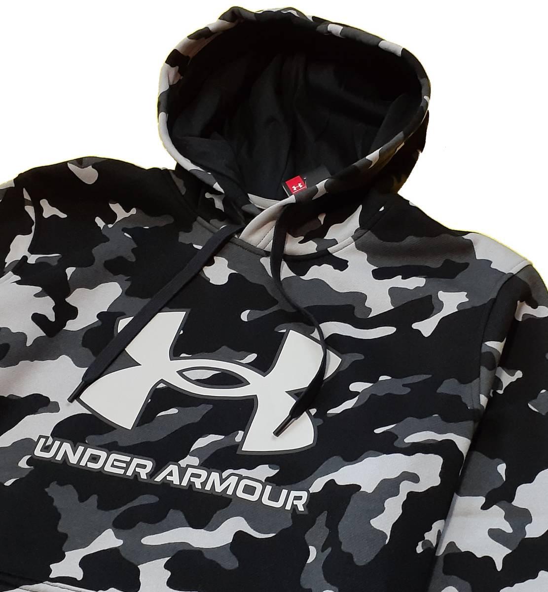 UA アンダーアーマー カモ ライバルフリース パーカー フーディー ジャケット+ ジョガー パンツ 上下セット/メンズ/新品/XL_画像3