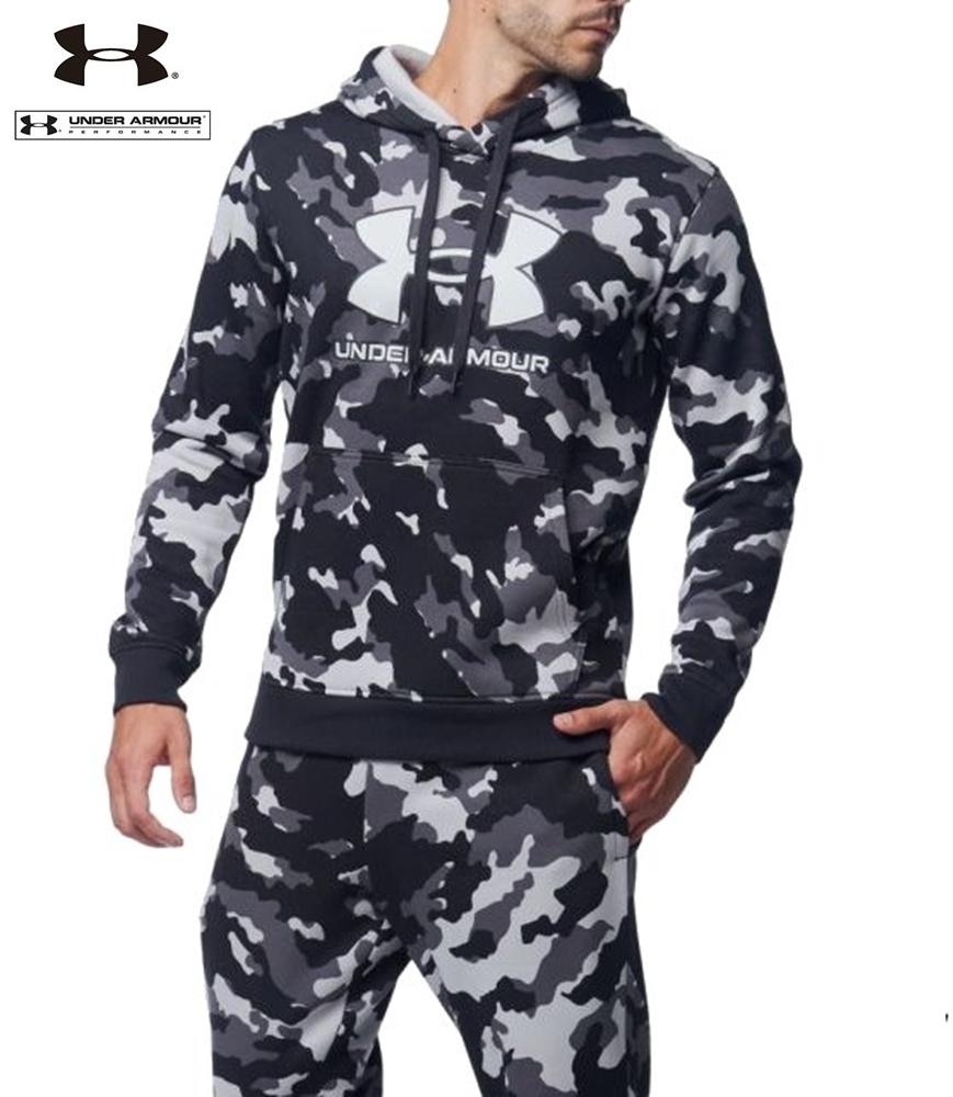 UA アンダーアーマー カモ ライバルフリース パーカー フーディー ジャケット+ ジョガー パンツ 上下セット/メンズ/新品/XL_画像8