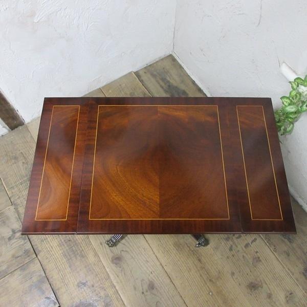 イギリス アンティーク 家具 コーヒーテーブル センターテーブル バタフライ 飾り棚 木製 マホガニー 英国 SMALLTABLE 6555b_画像6