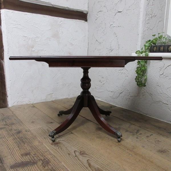 イギリス アンティーク 家具 コーヒーテーブル センターテーブル バタフライ 飾り棚 木製 マホガニー 英国 SMALLTABLE 6555b_画像9