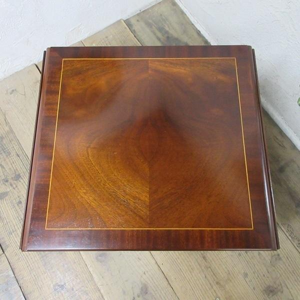 イギリス アンティーク 家具 コーヒーテーブル センターテーブル バタフライ 飾り棚 木製 マホガニー 英国 SMALLTABLE 6555b_画像5