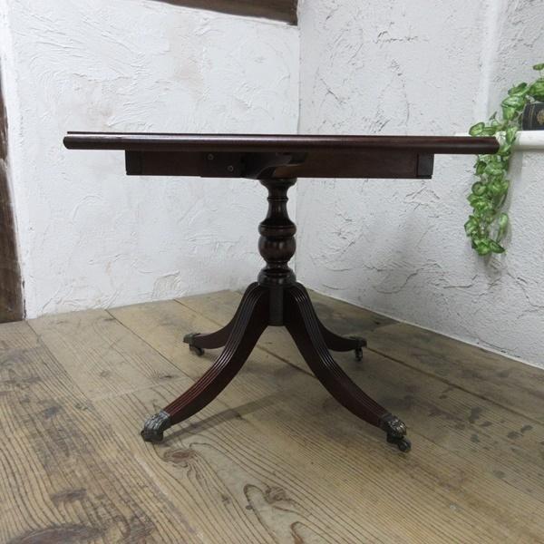 イギリス アンティーク 家具 コーヒーテーブル センターテーブル バタフライ 飾り棚 木製 マホガニー 英国 SMALLTABLE 6555b_画像8