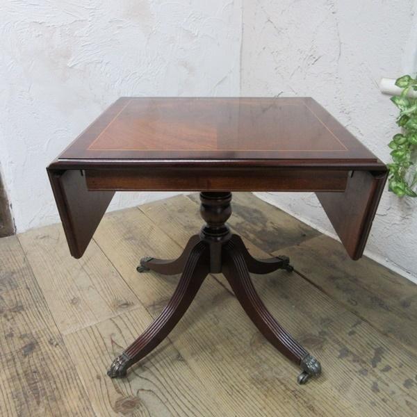 イギリス アンティーク 家具 コーヒーテーブル センターテーブル バタフライ 飾り棚 木製 マホガニー 英国 SMALLTABLE 6555b_画像4