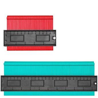 【激安】型取りゲージ コンターゲージ 測定ゲージ 120mm/250mm 2点セット-曲線定規 DIY用測定工具 多機能 輪郭コ_画像1