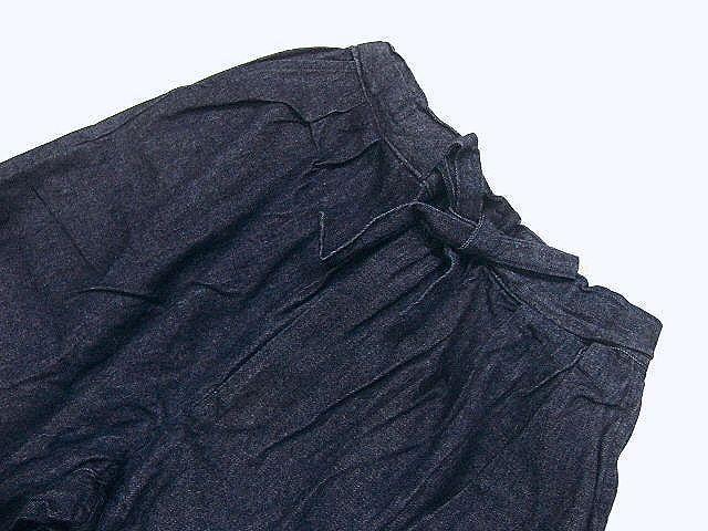 わけあり品 デニム生地の作務衣 Lサイズ 未使用品_画像7
