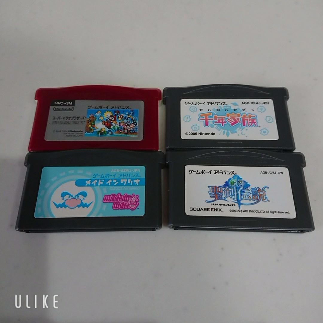 ゲームボーイアドバンス GBA ソフト 4種 セット