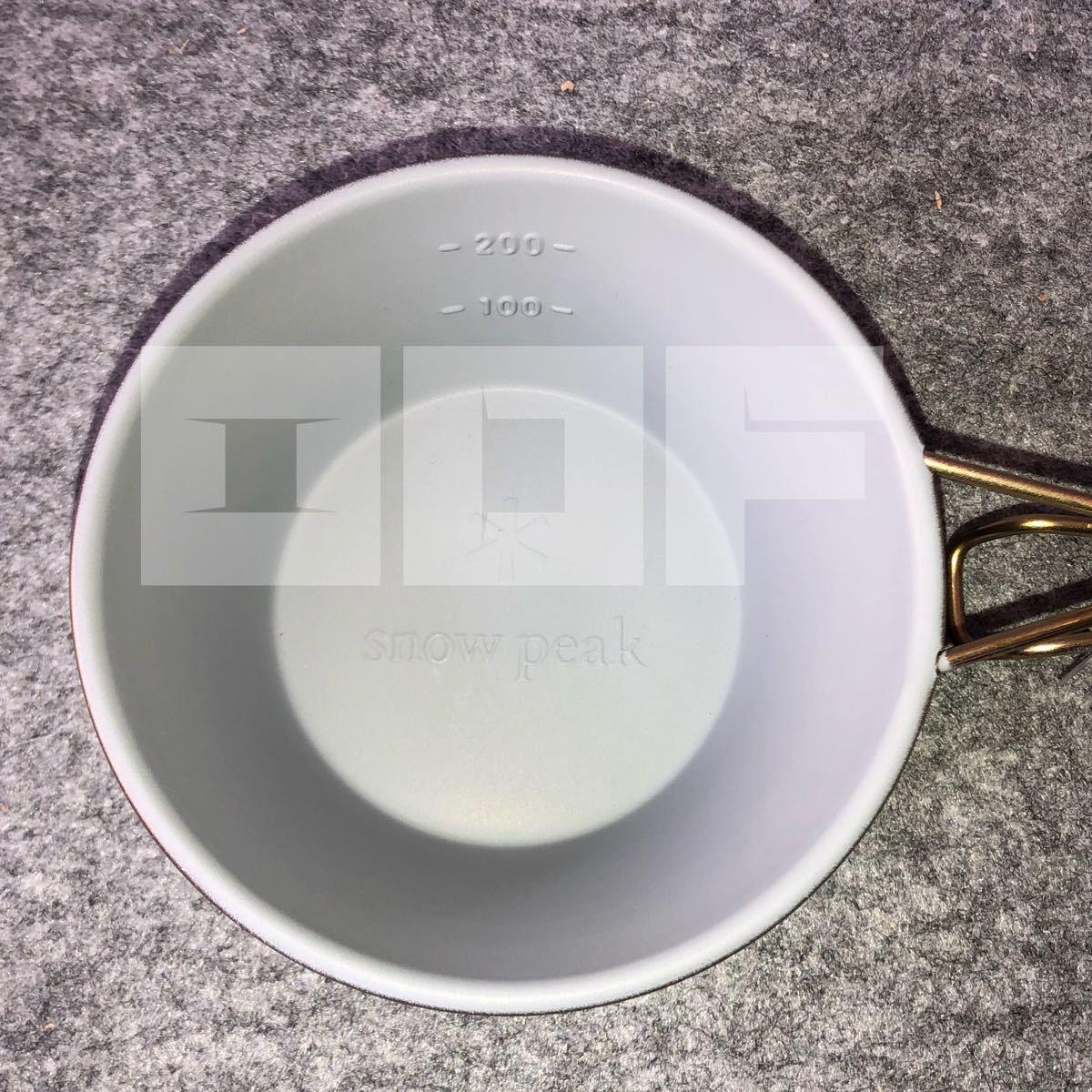 スノーピーク シェラカップ 310ml ノンスティック GOLDEN BROWN