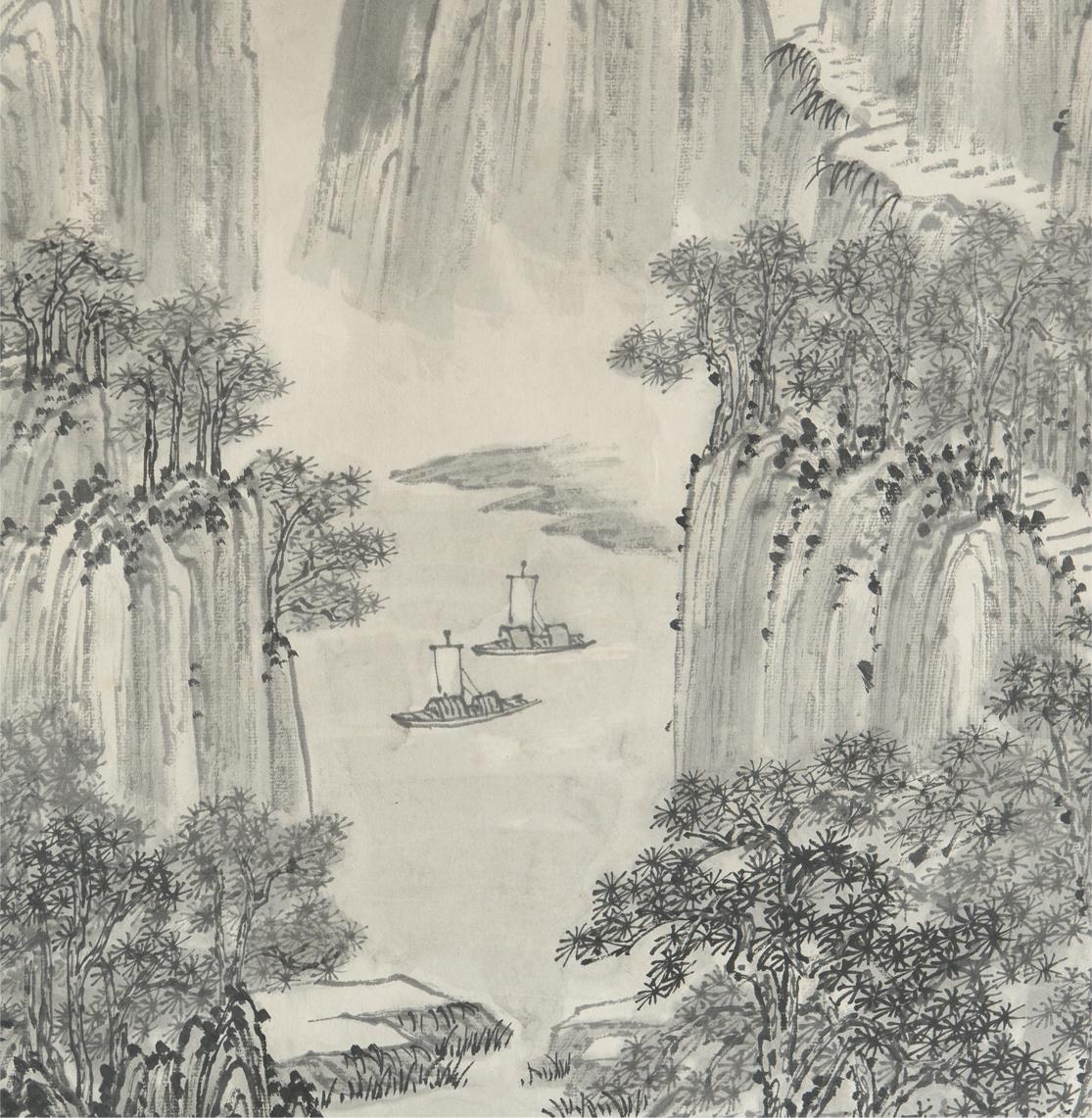 清 同治 徐潮 徐景澄 山水 立軸 真作 中国 絵画_画像4