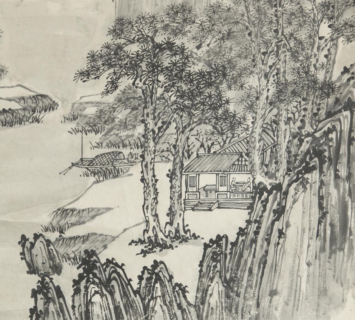 清 同治 徐潮 徐景澄 山水 立軸 真作 中国 絵画_画像5