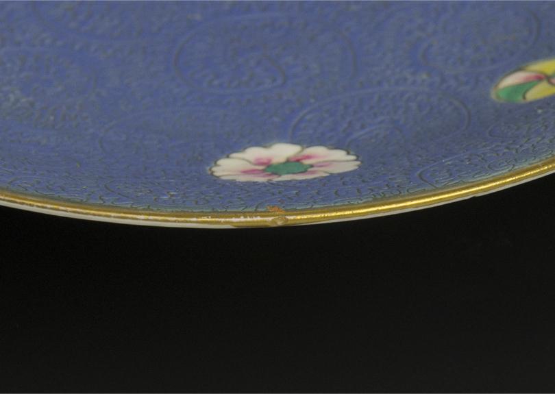 清 乾隆 粉彩盤 十件 大清乾隆年制款 共箱 中国 古美術_画像5