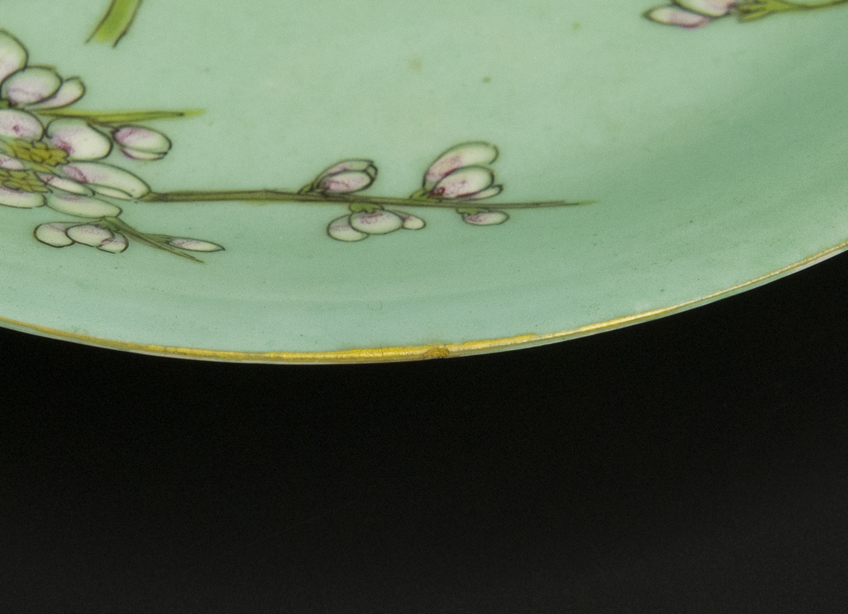 清 乾隆 粉彩盤 十件 大清乾隆年制款 共箱 中国 古美術_画像6