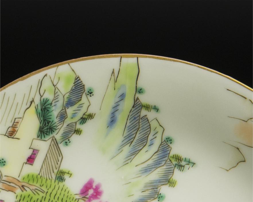 清 乾隆 粉彩盤 十件 大清乾隆年制款 共箱 中国 古美術_画像8