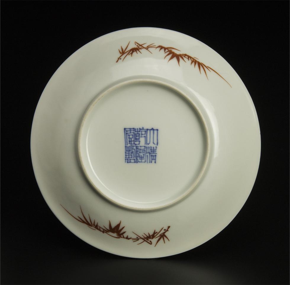 清 乾隆 粉彩盤 十件 大清乾隆年制款 共箱 中国 古美術_画像2