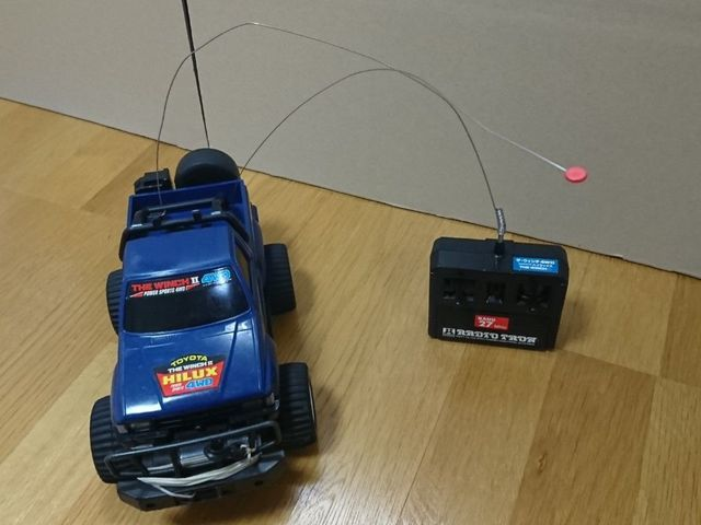 【ラジコン】マツシロ スーパーラジオトロン ザ・ウインチ4WD90 トヨタニューハイラックス ブルー_画像2